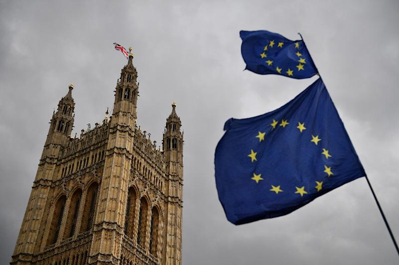 Britain must prepare for possible European elections on May 23, though 27 of its MEPs have already been reallocated to other countries (AFP Photo/Daniel LEAL-OLIVAS)