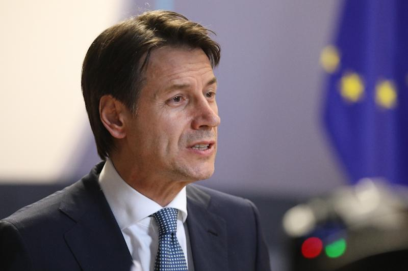 Italian Prime Minister Giuseppe Conte had vetoed joint conclusions for the entire agenda until his demands were finally met (AFP Photo/Ludovic MARIN)
