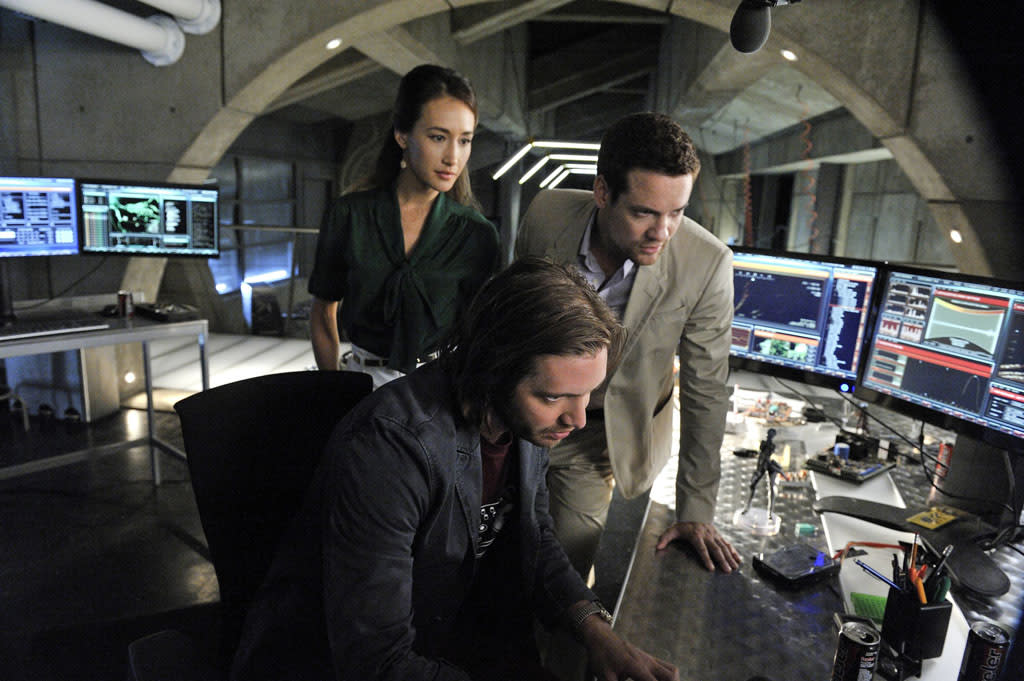 "Maggie Q as Nikita, Aaron Stanford as Birkoff and Shane West as Michael in the ""Nikita"" Season 3 episode, ""Innocence."""