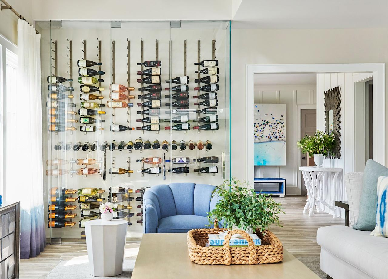 """<p>If you're an avid <a href=""""https://www.housebeautiful.com/shopping/home-gadgets/g28184286/best-wine-refrigerator/"""" target=""""_blank"""">wine collector</a>, investing in a dedicated storage space can be well worth it. Whether it's a <a href=""""https://www.housebeautiful.com/room-decorating/g1310/home-bar-design-ideas-1012/"""" target=""""_blank"""">sexy subterranean</a> place to retreat for a night cap or you're looking to build a new glass-enclosed space in a spare room or unused corner, we rounded up fifteen designer-approved wine cellar ideas and <a href=""""https://www.housebeautiful.com/room-decorating/dining-rooms/a33930938/wine-storage-tips/"""" target=""""_blank"""">bottle storage</a> styling tips to help you tastefully preserve your collection. Chin chin! </p>"""