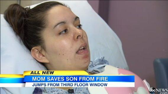 "When a fire broke out at Christina Simoes' apartment complex, she grabbed her toddler and <a href=""http://www.huffingtonpost.com/2014/05/13/mom-saves-baby-from-fire_n_5317956.html"" target=""_blank"">leaped out a third-floor window</a>. Her son was unscathed but Simoes suffered serious injury. However, she told CBS News <a href=""http://www.cbsnews.com/news/hero-mom-he-mattered-way-more-than-i-did/"" target=""_blank"">that she doesn't regret her decision</a>. <a href=""http://www.huffingtonpost.com/2014/05/13/mom-saves-baby-from-fire_n_5317956.html"" target=""_blank"">Read the whole story here</a>."