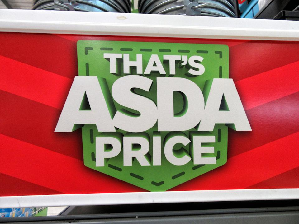 LONDON, UNITED KINGDOM - 2020/10/03: Asda's famous slogan 'thats Asda Price' is displayed inside a store UK's third biggest supermarket chain Asda has been sold by its US owner Walmart.Billionaire brothers Mohsin & Zuber Issa and private equity firm TDR Capital won the bidding war in a £6.8billion deal. The Blackburn based Issa brothers own EG Group, which they built from a single petrol station in 2001 to more than 6,000 sites around the globe and an annual turnover of £20billion. It will be the first time Asda has been in British ownership for over 20 years. (Photo by Keith Mayhew/SOPA Images/LightRocket via Getty Images)