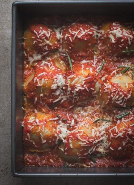 """<p>""""This recipe brings all of the comfort from classic stuffed shells but with a fresh, modern twist. The flavors are bold and each bite provides a bit of crunch from the spaghetti squash hiding inside the shells. The best part about this meal? Leftovers for days."""" -Ashley of<a href=""""http://www.edibleperspective.com/home/2012/10/10/spaghetti-squash-stuffed-shells.html?rq=spaghetti"""">Edible Perspective</a></p><p><a href=""""http://www.edibleperspective.com/home/2012/10/10/spaghetti-squash-stuffed-shells.html?rq=spaghetti"""">Get the recipe.</a></p>"""