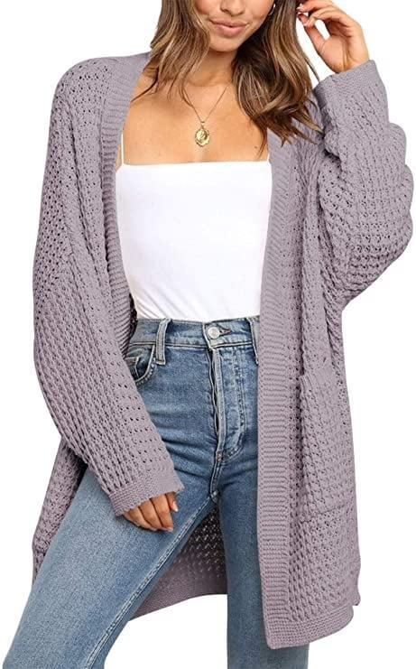 <p>Toss this <span>Logene Oversized Knit Long Cardigan Sweater with Pockets</span> ($30) on the back of your desk chair in case you get a chill.</p>