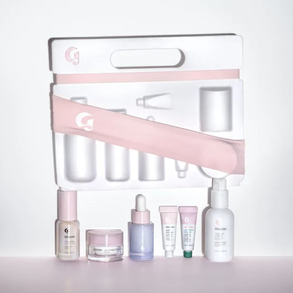 "<p>We can't get enough of <a href=""https://glossier.79ic8e.net/GPDx9"" rel=""nofollow noopener"" target=""_blank"" data-ylk=""slk:Glossier's"" class=""link rapid-noclick-resp"">Glossier's</a> products, but our one gripe is that they never go on sale—well, except for once a year, on Black Friday and Cyber Monday. Everything on site is 20 percent off until 11:59 p.m. PST tonight. Snag the brand's <a href=""https://glossier.79ic8e.net/2bKba"" rel=""nofollow noopener"" target=""_blank"" data-ylk=""slk:Boy Brow,"" class=""link rapid-noclick-resp"">Boy Brow,</a> <a href=""https://glossier.79ic8e.net/LADAo"" rel=""nofollow noopener"" target=""_blank"" data-ylk=""slk:Balm Dotcom"" class=""link rapid-noclick-resp"">Balm Dotcom</a>, and <a href=""https://glossier.79ic8e.net/94e4j"" rel=""nofollow noopener"" target=""_blank"" data-ylk=""slk:Stretch Concealer"" class=""link rapid-noclick-resp"">Stretch Concealer</a>, and you'll never need to pack your other makeup; the same goes for their <a href=""https://glossier.79ic8e.net/BmKmW"" rel=""nofollow noopener"" target=""_blank"" data-ylk=""slk:Milky Jelly Cleanser"" class=""link rapid-noclick-resp"">Milky Jelly Cleanser</a> and <a href=""https://glossier.79ic8e.net/b47Rb"" rel=""nofollow noopener"" target=""_blank"" data-ylk=""slk:Futuredew"" class=""link rapid-noclick-resp"">Futuredew</a> oil-serum for your skincare routine. Alternatively, streamline things by getting much of the above, and then some, in <a href=""https://glossier.79ic8e.net/vG2ey"" rel=""nofollow noopener"" target=""_blank"" data-ylk=""slk:The Skincare Edit"" class=""link rapid-noclick-resp"">The Skincare Edit</a> kit, complete with travel sizes. One other deal to look out for: Glossier's limited-time sets, offered only during this sale. <a href=""https://glossier.79ic8e.net/94n64"" rel=""nofollow noopener"" target=""_blank"" data-ylk=""slk:The Bestsellers Set"" class=""link rapid-noclick-resp"">The Bestsellers Set</a> comes with Boy Brow, Balm Dotcom, Milky Jelly Cleanser, and a Glossier hoodie.</p> <p><strong>Shop the sale:</strong> <a href=""https://glossier.79ic8e.net/GPDx9"" rel=""nofollow noopener"" target=""_blank"" data-ylk=""slk:glossier.com"" class=""link rapid-noclick-resp"">glossier.com</a></p>"