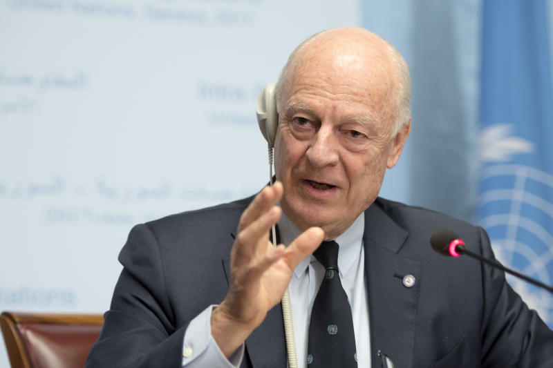 De Mistura: Intra-Syria Talks in Geneva Impossible without Ceasefire Holding