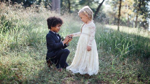 PHOTO: Breana Pulizzi and Bria Nicole Terry, both photographers, held a special mini-wedding photo shoot with their children. (Breana Marie Photography)