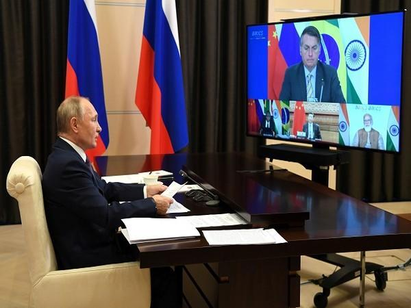Russian President Vladimir Putin attends the BRICS Summit via a video conference call at the Novo-Ogaryovo state residence outside Moscow, Russia November 17, 2020. (Photo Credit: Reuters)