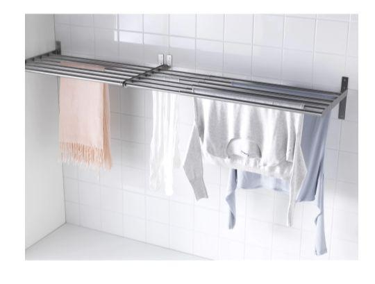"""For a permanent solution that's stylish and out-of-the-way, this wall-mount drying rack from IKEA is effortless and gets the job done. <strong><a href=""""https://fave.co/2MLyp7j"""" target=""""_blank"""" rel=""""noopener noreferrer"""">Get it at IKEA, $27</a></strong>."""