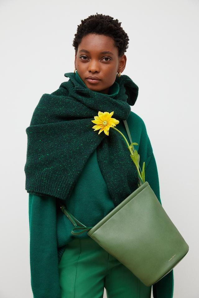 <p>Mansur Gavriel's newest bag is the <span> Zip Bucket Bag</span> ($695). The zipper makes is easy to keep your things hidden and the silhouette is easy to access.</p>