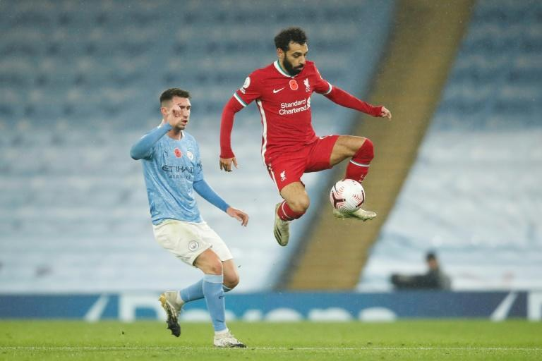 Egyptian forward Mo Salah scored his eighth goal of the season for Liverpool in the 1-1 draw with Manchester City