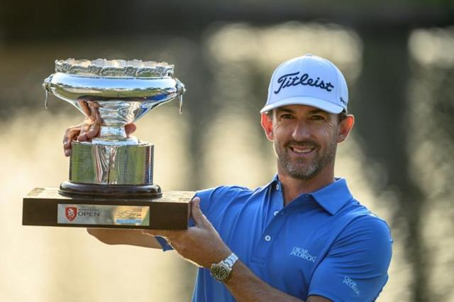 Australia's Wade Ormsby, seen here winning the Hong Kong Open in January, is the current Asian Tour Order of Merit leader (AFP Photo/Philip FONG)