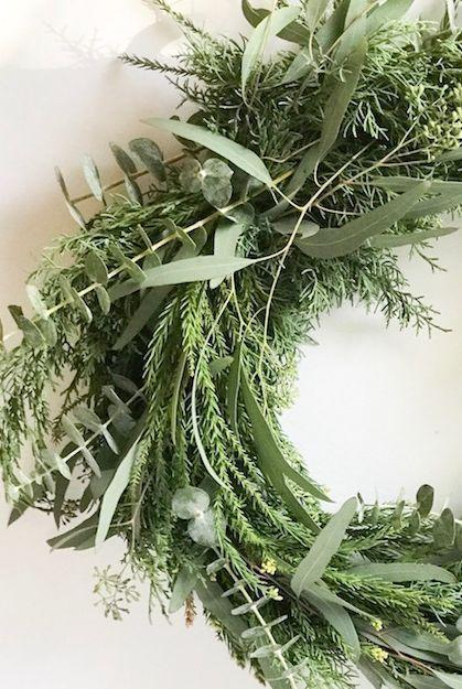 """<p>Eucalyptus is the ultimate """"evergreen"""" wreath material. It's easy to source, simple to work with, and—assuming it dries properly and stays relatively safe from the elements—can stay up on your door all year long!</p><p><strong>Get the tutorial at <a href=""""https://jenwoodhouse.com/evergreen-eucalyptus-wreath-tutorial/"""" rel=""""nofollow noopener"""" target=""""_blank"""" data-ylk=""""slk:The House of Wood"""" class=""""link rapid-noclick-resp"""">The House of Wood</a>.<br></strong></p><p><br><a class=""""link rapid-noclick-resp"""" href=""""https://www.amazon.com/Seanmi-Artificial-Eucalyptus-Branches-Decoration/dp/B07PJ96FJT/ref=pd_di_sccai_6/132-0480925-3312615?tag=syn-yahoo-20&ascsubtag=%5Bartid%7C10050.g.1988%5Bsrc%7Cyahoo-us"""" rel=""""nofollow noopener"""" target=""""_blank"""" data-ylk=""""slk:""""><strong><strong><br></strong></strong></a></p>"""