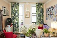 "<p>Want new window treatments but no sewing machine (or seamstress skills) at home? No problem. I made this set in my apartment just using double-stick fabric tape. <a href=""https://www.housebeautiful.com/design-inspiration/a29487344/no-sew-curtains-diy/"" rel=""nofollow noopener"" target=""_blank"" data-ylk=""slk:Get the tutorial here."" class=""link rapid-noclick-resp"">Get the tutorial here.</a></p>"