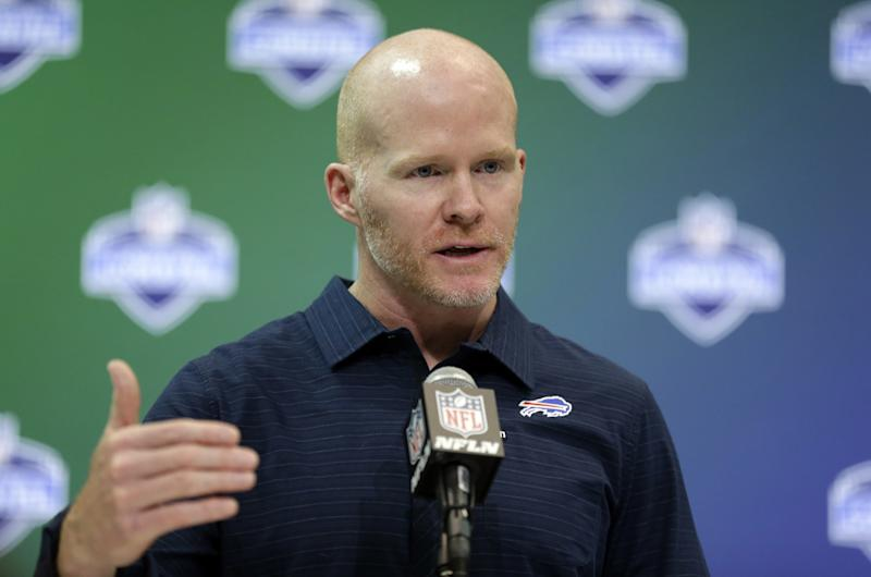 First-year Buffalo head coach Sean McDermott appears to have a major say in the team's search for a new GM. (AP)