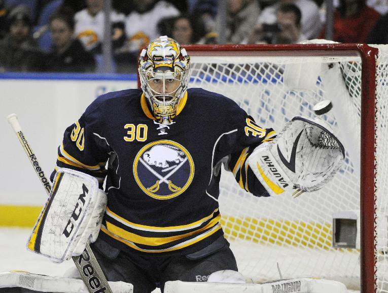 Ehrhoff scores 2 as Sabres beat Hurricanes 3-2