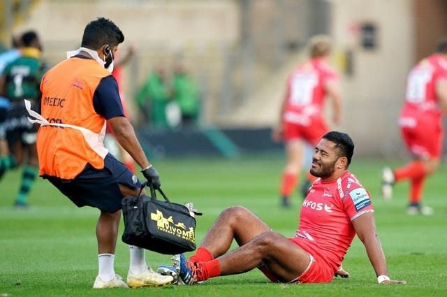 Manu Tuilagi suffered the injury playing for Sale