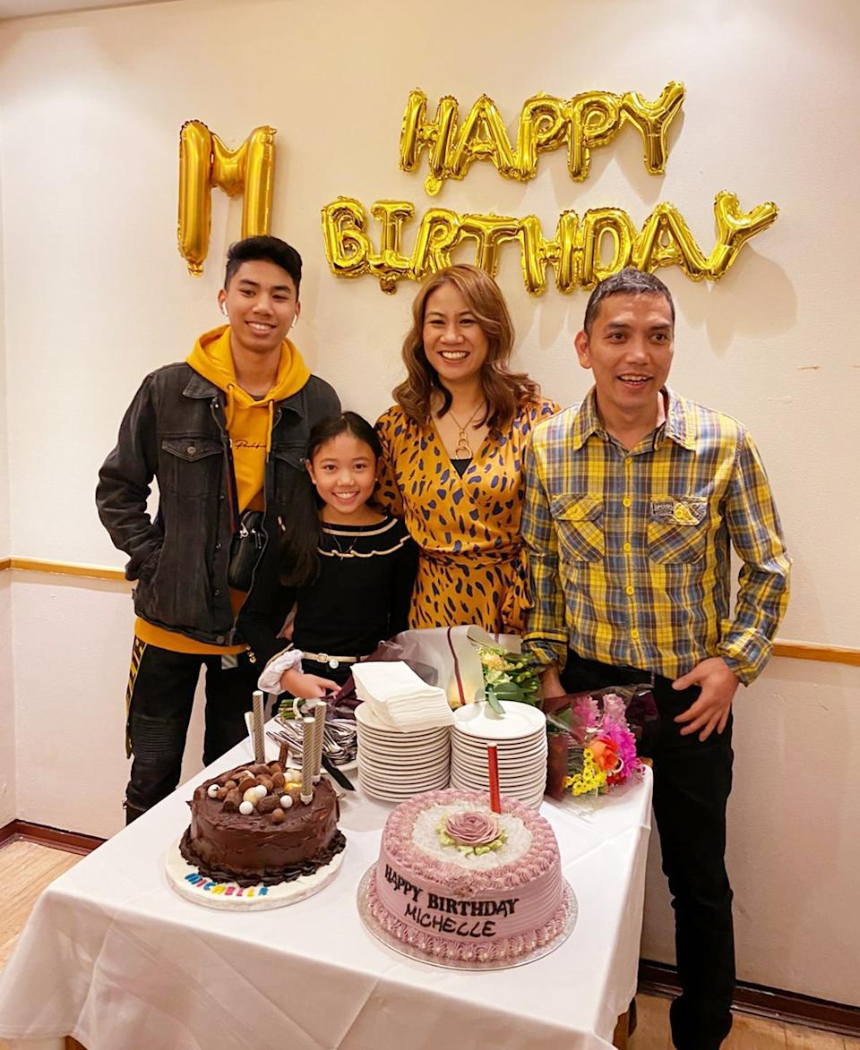 The family on Michelle's birthday. (PA Real Life/Collect)