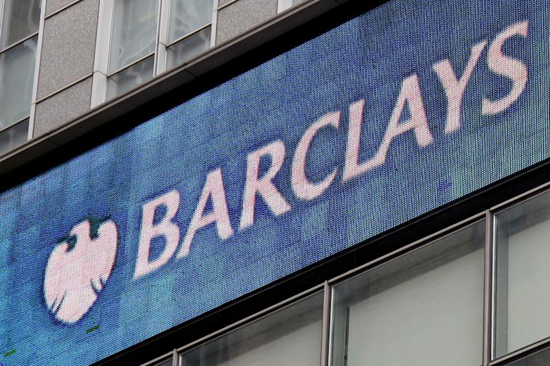 A Barclays sign is displayed on their offices in New York, Thursday, March 29, 2018. AP Photo/Seth Wenig)
