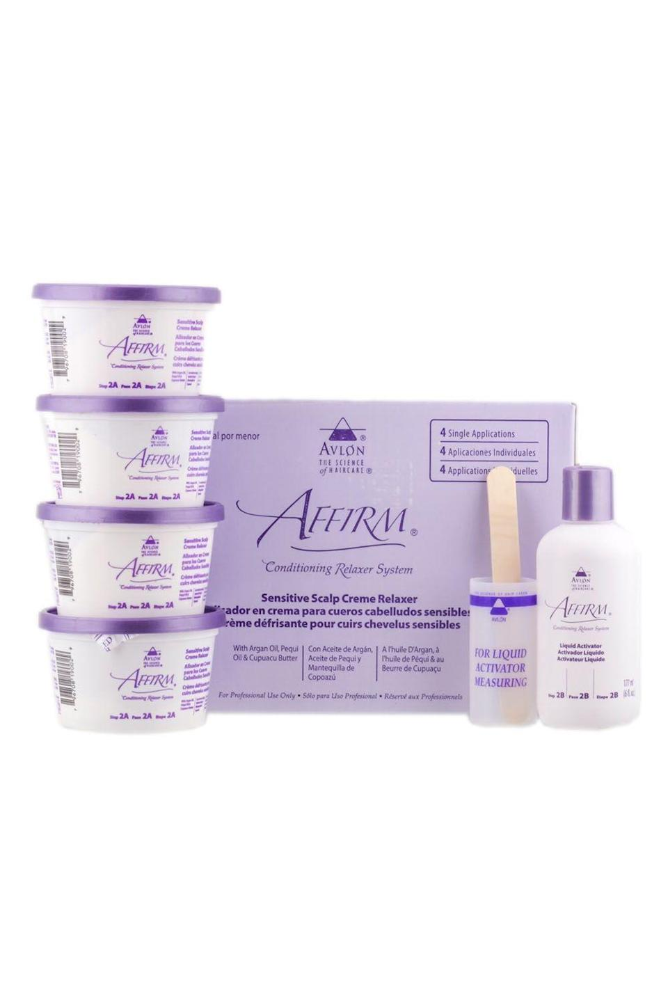 """<p><strong>Avlon</strong></p><p>amazon.com</p><p><strong>$53.89</strong></p><p><a href=""""https://www.amazon.com/dp/B00809F52Q?tag=syn-yahoo-20&ascsubtag=%5Bartid%7C10049.g.33368236%5Bsrc%7Cyahoo-us"""" rel=""""nofollow noopener"""" target=""""_blank"""" data-ylk=""""slk:Shop Now"""" class=""""link rapid-noclick-resp"""">Shop Now</a></p><p>FYI, it's 2020 and scalp irritation is no longer a necessary evil that comes with getting your hair relaxed. This one <strong>gets the job done, while also being super gentle on your </strong><strong><a href=""""https://www.cosmopolitan.com/style-beauty/beauty/g30896457/dry-scalp-treatment-products/"""" rel=""""nofollow noopener"""" target=""""_blank"""" data-ylk=""""slk:scalp"""" class=""""link rapid-noclick-resp"""">scalp</a></strong>. Plus, it doesn't have that intense chemical smell, so it's truly a win-win.</p>"""