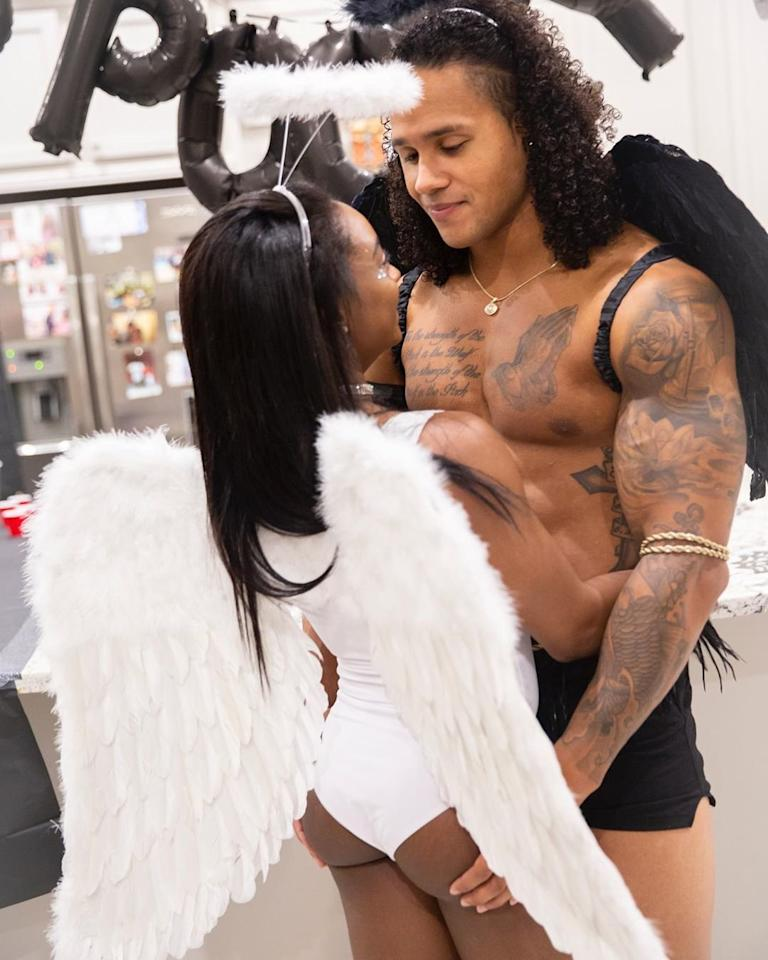 Biles and Ervin Jr. love a couples costume, opting to be angels for Halloween 2019.