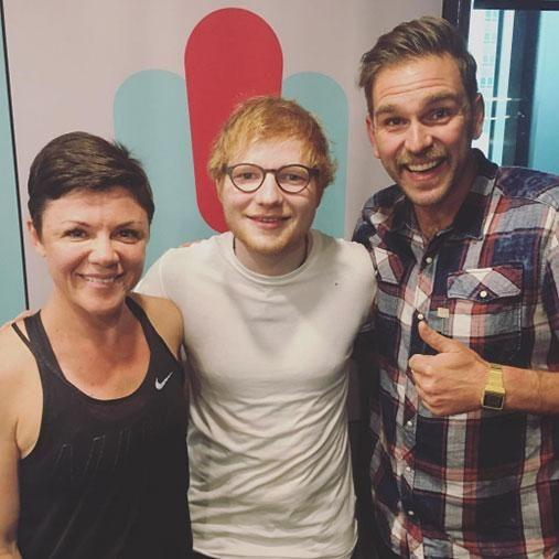 Last month, Em secured the much-coveted breakfast radio position with partner Harley Breen, interviewing celebs such as Ed Sheeran. Photo: Instagram/emharleyshow