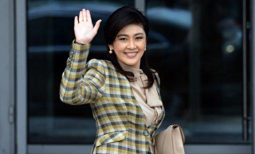 "Thai Prime Minister Yingluck Shinawatra told reporters she was ""confident"" her government could defend itself"