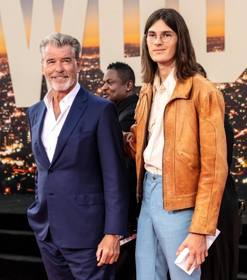 Pierce and Dylan Brosnan in 2019