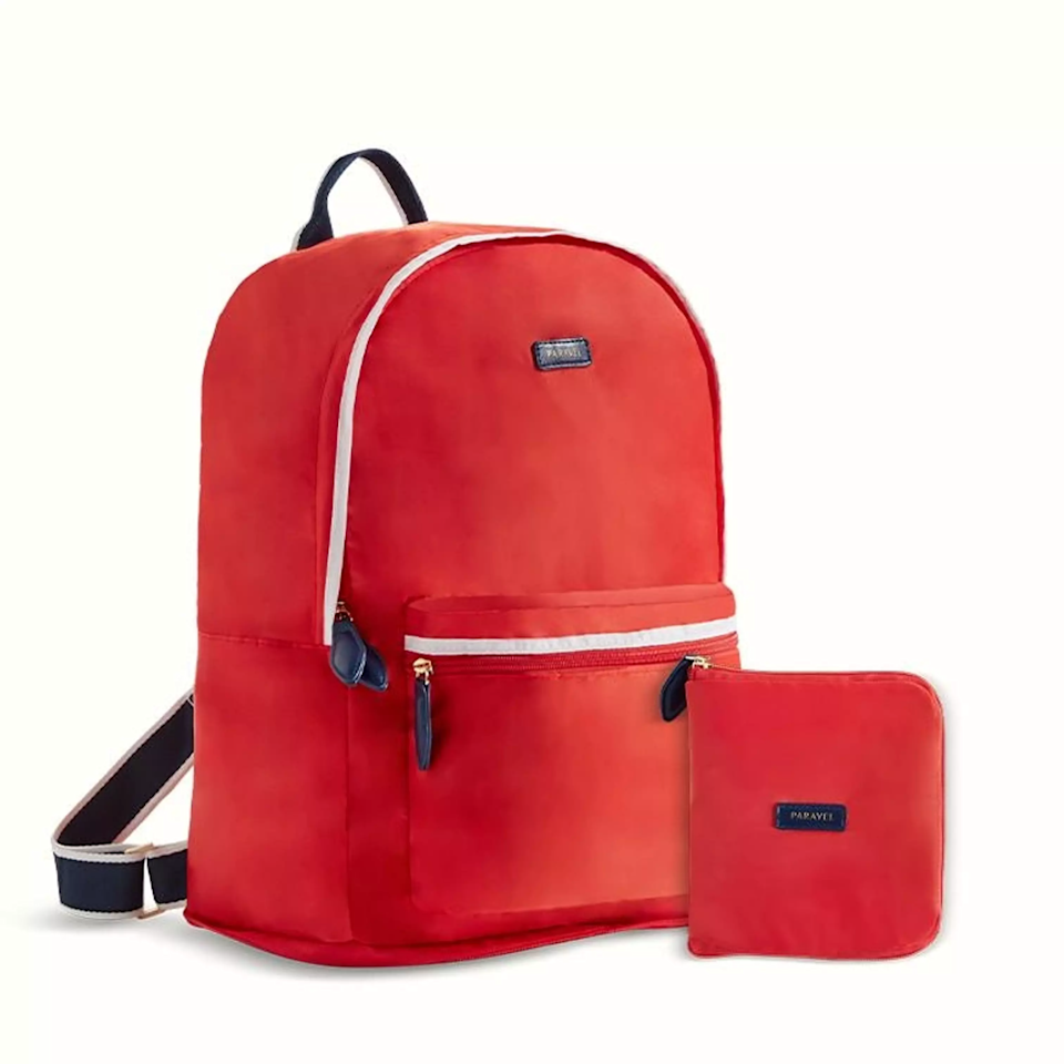 "<br><br><strong>Paravel</strong> Fold-Up Backpack, $, available at <a href=""https://go.skimresources.com/?id=30283X879131&url=https%3A%2F%2Ftourparavel.com%2Fproducts%2Ffold-up-backpack%3Fvariant_id%3DZ2lkOi8vc2hvcGlmeS9Qcm9kdWN0VmFyaWFudC8zMDI2NjI3NjA4NTg0OQ%3D%3D"" rel=""nofollow noopener"" target=""_blank"" data-ylk=""slk:Paravel"" class=""link rapid-noclick-resp"">Paravel</a>"