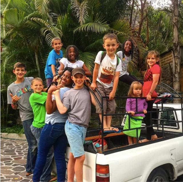 Driving around with friends in Guatemala