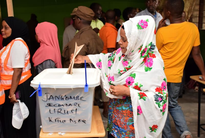 Early voting for essential workers at the presidential and parliamentary polls in the semi-autonomous island of Zanzibar