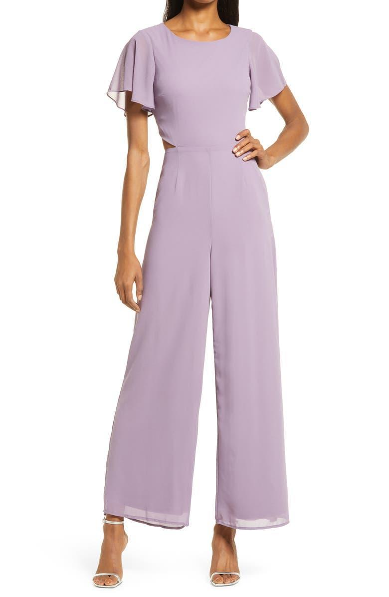 """<br><br><strong>Lulus</strong> Toast to You Flutter Sleeve Jumpsuit, $, available at <a href=""""https://go.skimresources.com/?id=30283X879131&url=https%3A%2F%2Fwww.nordstrom.com%2Fs%2Flulus-toast-to-you-flutter-sleeve-jumpsuit%2F6294183"""" rel=""""nofollow noopener"""" target=""""_blank"""" data-ylk=""""slk:Nordstrom"""" class=""""link rapid-noclick-resp"""">Nordstrom</a>"""