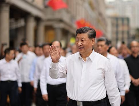 Chinese President Xi Jinping on a street in the old downtown areas in Shantou in southern China's Guangdong province on October 13, 2020. Photo: Xinhua