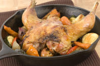 """<p>You could go complicated and find an intricate gourmet dish to make with your pheasant, or you could keep it simple and throw in a crockpot along with a load of seasonal vegetables for a hearty pot roast, like <a href=""""https://www.deliaonline.com/recipes/type-of-dish/one-pot-recipes/pot-roasted-pheasant-with-port-and-chestnuts"""" rel=""""nofollow noopener"""" target=""""_blank"""" data-ylk=""""slk:Delia does in this recipe"""" class=""""link rapid-noclick-resp"""">Delia does in this recipe</a> [Photo: Getty] </p>"""