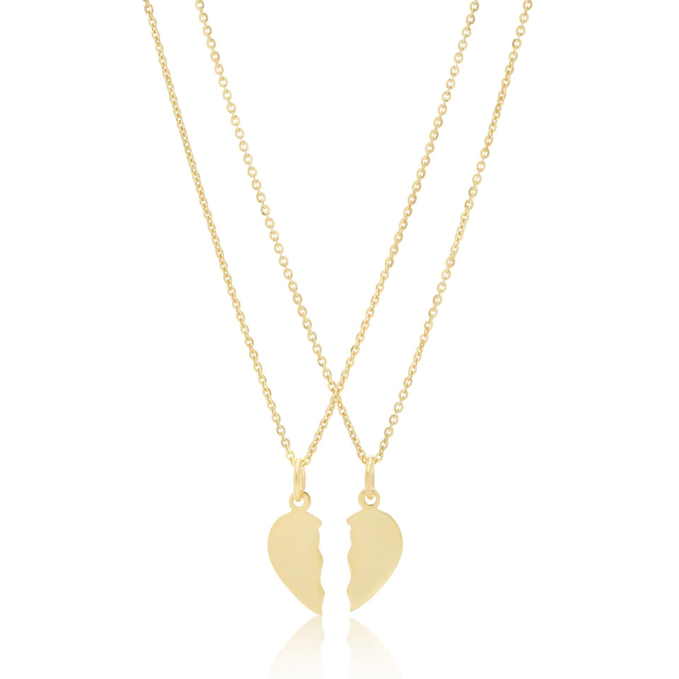 "Nothing says BFF like a you-get-one-half, I-get-the-other pendant necklace.<br><br><strong>Stone and Strand</strong> Gold Plated Inseparable BFF Set, $, available at <a href=""https://go.skimresources.com/?id=30283X879131&url=https%3A%2F%2Fwww.stoneandstrand.com%2Fproducts%2Fgold-plated-inseparable-bff-set"" rel=""nofollow noopener"" target=""_blank"" data-ylk=""slk:Stone and Strand"" class=""link rapid-noclick-resp"">Stone and Strand</a>"