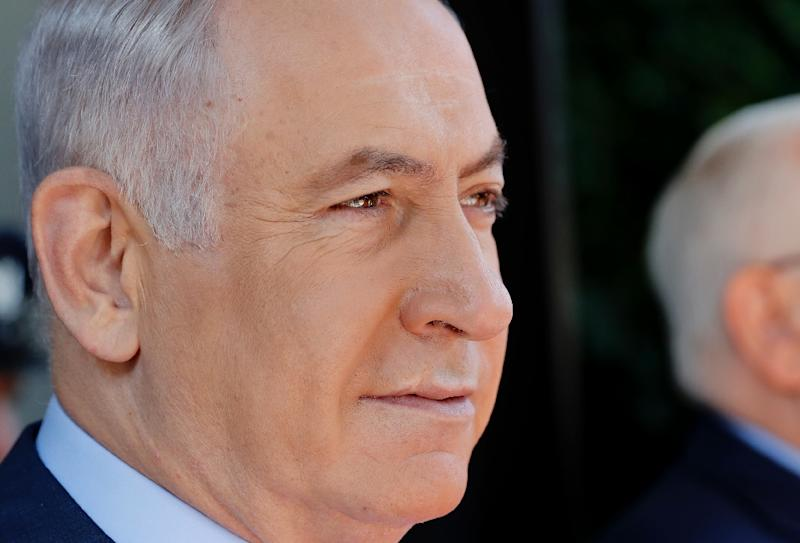 Israeli Prime Minister Benjamin Netanyahu's visit to Paris to attend a ceremony marking the WWII round-up of Jews there has sparked protests from his critics (AFP Photo/THOMAS COEX)