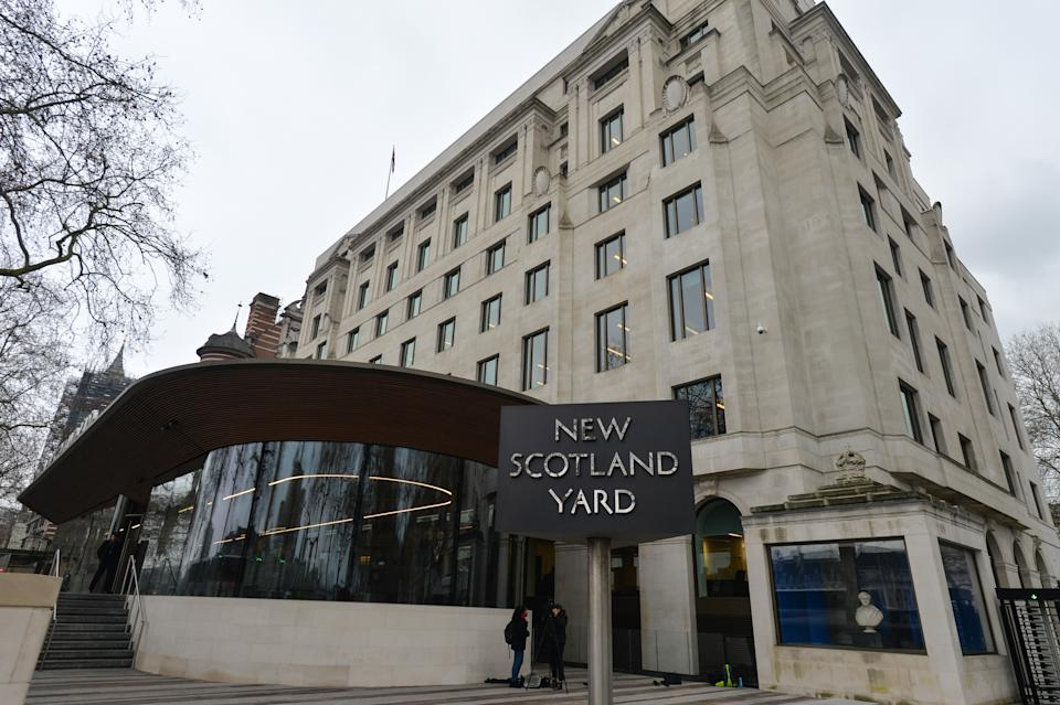 A view of the New Scotland Yard office, the headquarters of the Metropolitan Police Service and the Police Community Support Officers. On Thursday, 23 January 2019, in London, United Kingdom. (Photo by Artur Widak/NurPhoto via Getty Images)