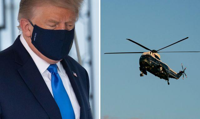 Trump coronavirus: US president airlifted to military hospital - less than 24 hours after COVID-19 diagnosis