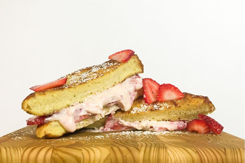 <p>Stuffed french toast you can take with you.</p><p>Get the recipe from <span>Delish</span>.</p>