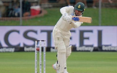 Quinton de Kock of South Africa plays a shot during day two of the third cricket test between South Africa and England in Port Elizabeth, South Africa, Saturday, Jan. 18, 2020 - Credit: AP