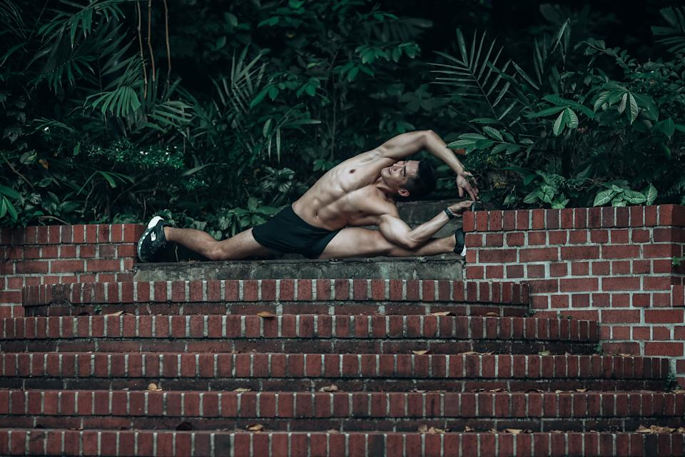 Brandon believes that having a goal in mind helps set the mental and physical strength for his workout regime.