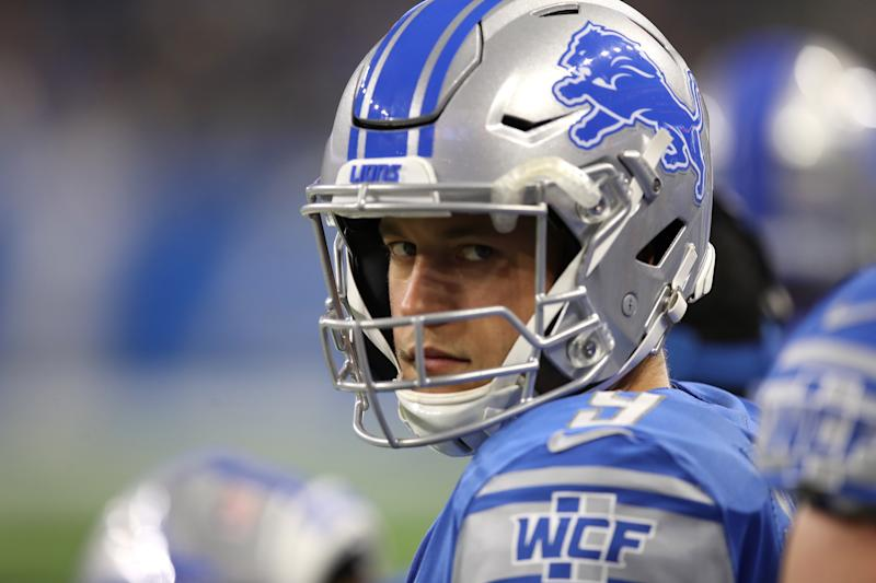 Matthew Stafford is still searching for a playoff victory in Detroit. (Getty Images)