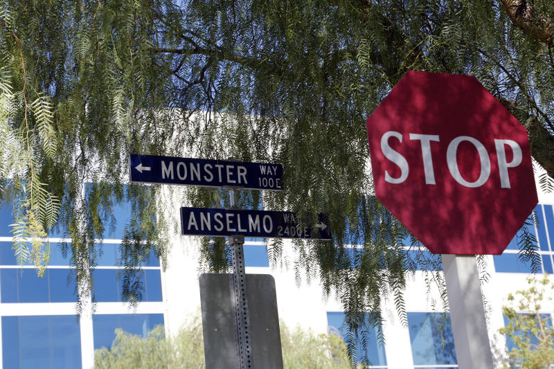 PICTURED AT TOP: Sara Rabuse. PICTURED HERE: Monster's headquarters are in a nondescript office park at 1 Monster Way in Corona, California. (Sara Terry/VII for HuffPost)