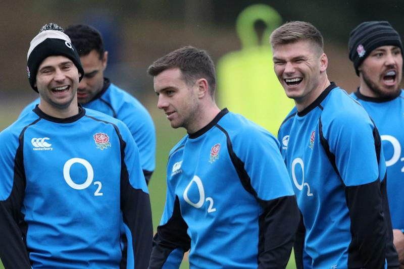 England's stars in training ahead of their final game of the calendar year: PA