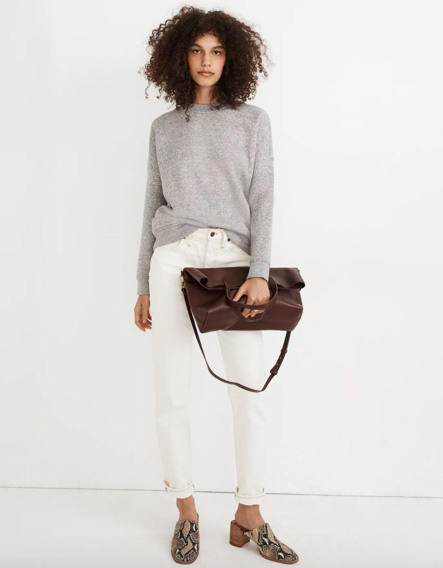 "<a href=""https://fave.co/3m9MMz1"" target=""_blank"" rel=""noopener noreferrer"">Find it for $70 at Madewell</a>. This also comes in ""dried cedar"" and ""sundrenched lilac"" colors."