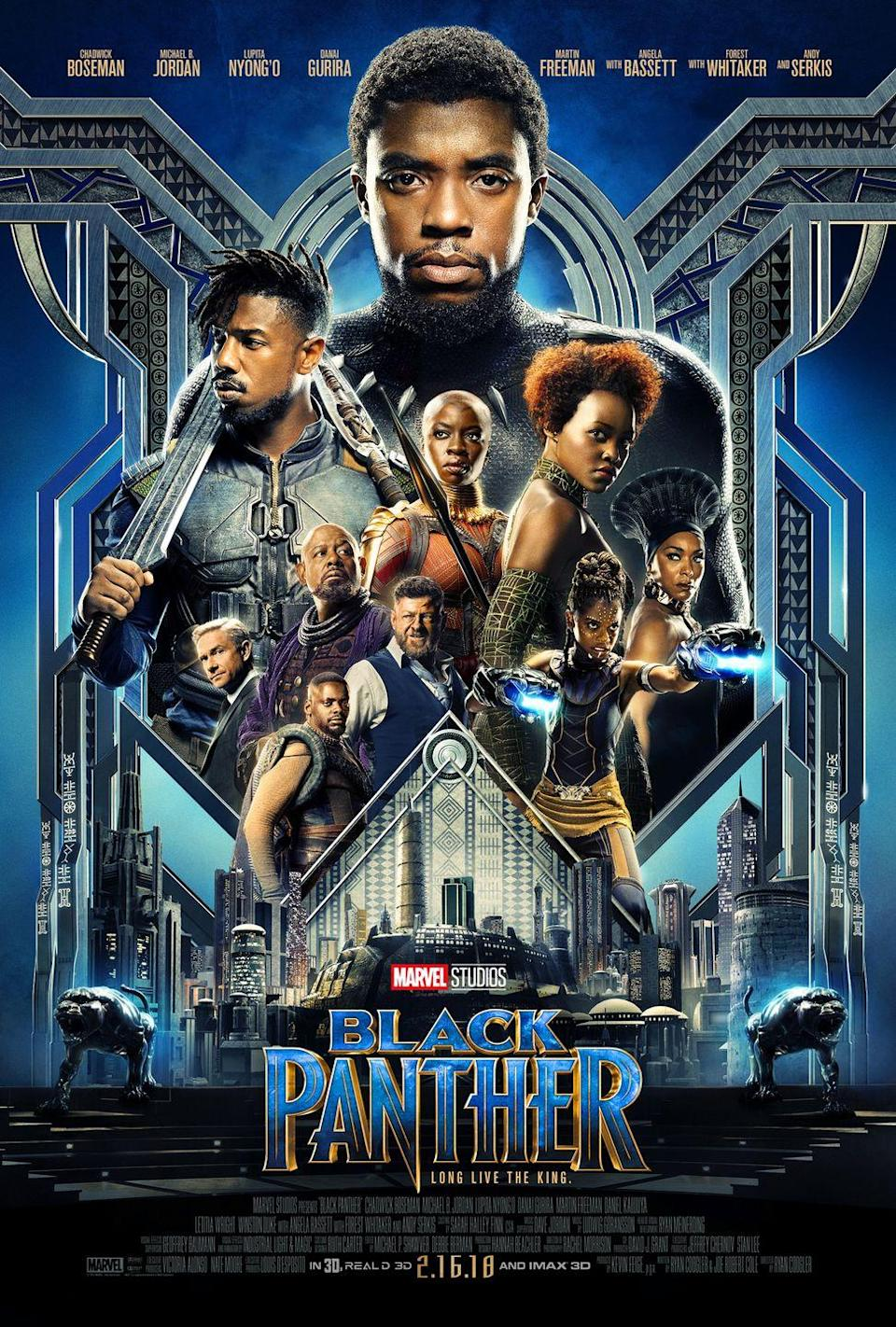 """<p>$14.99 <a class=""""link rapid-noclick-resp"""" href=""""https://www.amazon.com/Panther-Theatrical-Version-Chadwick-Boseman/dp/B079NKRK66?tag=syn-yahoo-20&ascsubtag=%5Bartid%7C2089.g.19687212%5Bsrc%7Cyahoo-us"""" rel=""""nofollow noopener"""" target=""""_blank"""" data-ylk=""""slk:BUY NOW"""">BUY NOW </a></p><p>Wakanda forever, indeed! This entry into the ever-sprawling Marvel Cinematic Universe — and the first with a predominantly black cast — <a href=""""https://www.theatlantic.com/entertainment/archive/2018/02/the-game-changing-success-of-black-panther/553763/"""" rel=""""nofollow noopener"""" target=""""_blank"""" data-ylk=""""slk:broke numerous records"""" class=""""link rapid-noclick-resp"""">broke numerous records </a>and became an <a href=""""http://time.com/black-panther/"""" rel=""""nofollow noopener"""" target=""""_blank"""" data-ylk=""""slk:instant cultural touchstone"""" class=""""link rapid-noclick-resp"""">instant cultural touchstone</a>. </p>"""