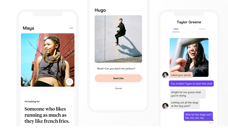 Photos from the Hinge app