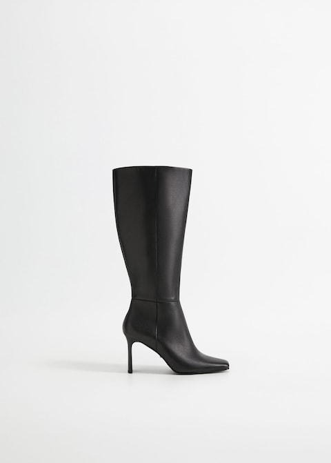 """<br><br><strong>Mango</strong> Leather Boots With Wide Leg, $, available at <a href=""""https://go.skimresources.com/?id=30283X879131&url=https%3A%2F%2Fshop.mango.com%2Fus%2Fplus-size%2Fshoes-boots-and-booties%2Fleather-boots-with-wide-leg_77004009.html"""" rel=""""nofollow noopener"""" target=""""_blank"""" data-ylk=""""slk:Mango"""" class=""""link rapid-noclick-resp"""">Mango</a>"""