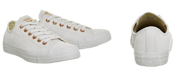 439ff36d4648 Converse Exclusives  All Star Low Leather Trainers Buff Rose Gold Exclusive