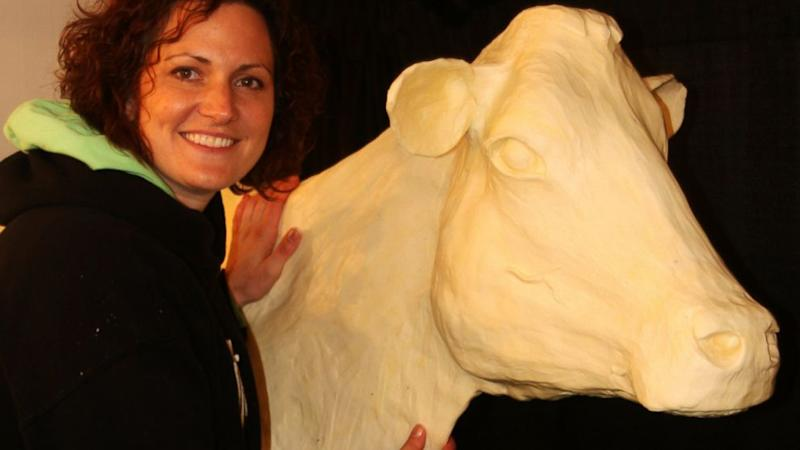 How One Becomes a Professional Butter Sculpture Artist
